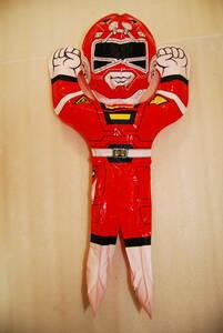 希少 激走戦隊カーレンジャー レッドレーサー 空気 ビニール 人形 空ビ お祭り 夜店 縁日 レア