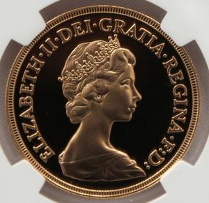 1980 イギリス エリザベス2世 5ポンド 金貨 NGC PF70UC 最高鑑定品!!
