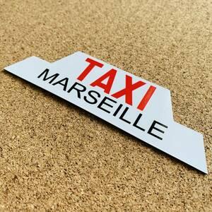 【特注】▲TAXI【マグネット仕様】マグネットステッカー30cm▲フランス マルセイユ タクシー プジョー 車に☆ 磁石 屋外耐候耐水 即買