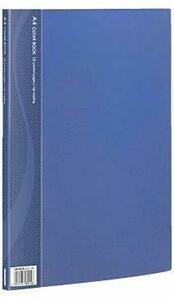 【未使用品】A4クリアブック 10ポケット ベーシックカラー CB1031B-N ブルー×15冊セット