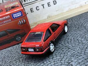 ねじ止め加工済 トミカプレミアム 40 発売記念仕様 トヨタ スプリンタートレノ AE86 改造ベースにリメイクミニカーカスタム初回 赤黒