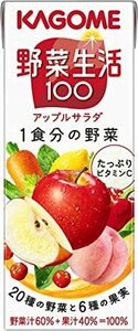 200ml×24本 カゴメ 野菜生活100 アップルサラダ 200ml×24本