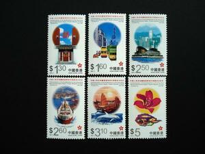 ★中国切手★1997 中華人民共和国香港特別行政区成立記念 6種完
