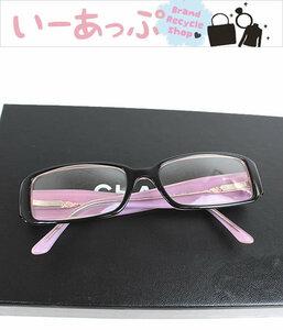 シャネル メガネ 眼鏡 CHANEL  めがね サングラス ココマーク ブラック×ピンク n743