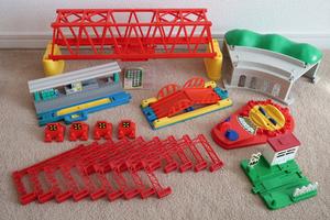 ■TOMY / トミー プラレール レール各種・ブロック橋脚・複線トンネル・情景部品 絶版品 まとめて大量セット