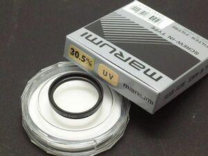 クリックポスト発送 新品マルミ 30.5mm UVフィルター黒枠 ローライ35S他用