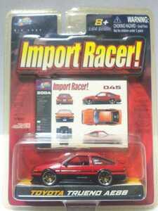 Jada Toys トヨタ スプリンター トレノ AE86 1/64 ジャダトイズ TOYOTA SPRINTER TRUENO インポートレーサー IMPORT RACER 赤 レッド