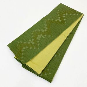 ☆新品☆着物・卒業袴・浴衣 緑系半巾帯 171