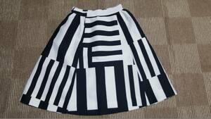 新品 送料無料 US0号/JP7号ケイトスペードニューヨークKate Spade New York 白黒ブロックスカート