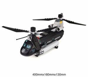 swat 運送機 ヘリコプター ミニフィグ LEGO 互換 ミニフィギュア レゴ 互換 ブロック 256pcs