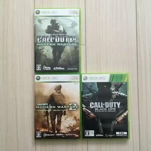 コールオブデューティ4 モダンウォーフェア コールオブデューティ モダンウォーフェア2 ブラックオプス 字幕版 セット Xbox360ソフト