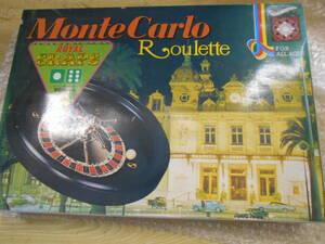 当時物 ゲームのはなやま モンテカルロ ルーレット 美品 現状渡し品 同梱不可