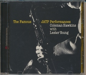 CD●Coleman Hawkins with Lester Young/HE FAMOUS JATP PERFORMANCES 輸入盤 コールマン・ホーキンス・ウィズ・レスター・ヤング
