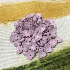 花 パープル アクリルパーツ 約10mm 100個 バラ売り可能