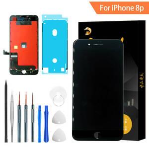 「送料込み新品」For iphone 8 Plus 黒 再生 液晶 パネル 再生パネル フロントパネル 画面割れ 交換 修理 ガラス割れ標準工具付き iPixel