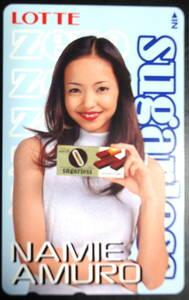非売品! 安室奈美恵  LOTTE sugarless ZERO  ロッテ 抽選 当選品  50度 テレカ テレホンカード    未使用品20210108C-08