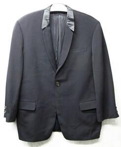 ワイズ フォーメン ヨウジヤマモト:シルク混別布襟 ジャケット 濃紺( タキシード Yohji Yamamoto Y's for Men Wool Jacket Dark Navy