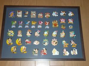 ディズニー 額装 ピンバッジ43個セット ミッキーマウス