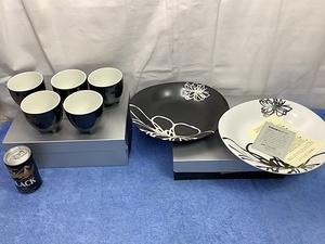 陶器製 カップ&ペアプレート(皿)セット まとめて 検 インテリア キッチン 洋食器 マグカップ 陶磁
