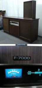 【札幌 直接引取限定のみ】 PIONEER パイオニア ステレオ F-7000 通電確認 プレーヤー、左フロントスピーカーNG 状態悪 中古完全JUNK品!