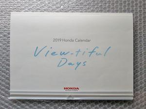 ■ ホンダ株主優待 2019年 カレンダー HONDA ■ (送料198円)