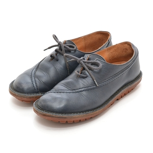 ◇377759 trippen トリッペン レザースニーカー 革靴 サイズ37 レディース ドイツ製 ネイビー 無地
