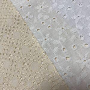 刺繍レース生地ハギレ