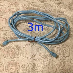 LANケーブル CAT5E 3m 水色