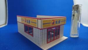 ◇オリジナル店舗建築模型05◇スケール1/87 HOゲージ ジオラマ 雑貨 インテリア 鉄道模型