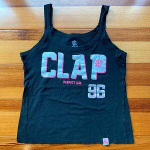 CLAP クラップ ☆ タンクトップ Mサイズ フィットネスウェア エクササイズ ヨガ BLACK