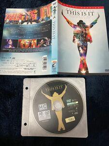 【中古】マイケルジャクソン 「THIS IS IT」DVD(レンタルアップ品)