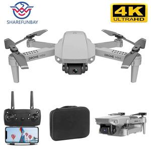 Sharefunbay E88ドローン4 18k hd広角カメラドローンwifi 1080 1080pリアルタイム伝送fpvドローンフォローミーrc quadcopter