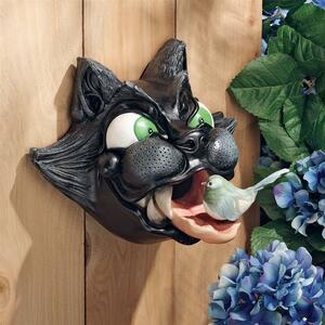キャット・アストロフィ「(突然の)大惨事」バードハウス(猫の舌が鳥小屋となった場合)彫像 彫刻/面白グッズ 壁掛け プレゼント(輸入品)