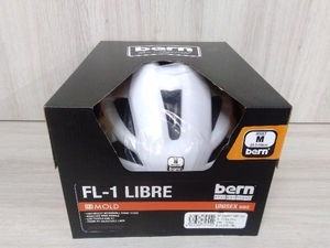 【美品】 bern バーン FL-1 LIBRE ホワイト M 軽量モデル スポーツ 自転車用 ロードバイク クロスバイク マウンテンバイク BMX
