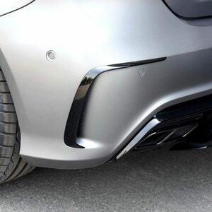 メルセデスベンツ 176 A200 A250 A45 AMG 2013-2016用 ABS製リアバンパースプリッタースポイラー