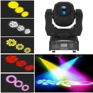 ◆最安にします◆ 60W LED 8ゴボス 8色 RGBW ムービング ヘッド ステージ 効果 ライト 9/11 チャンネル オートラン DMX512 AT8689
