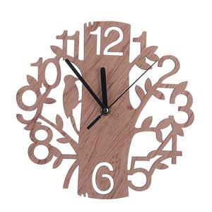 *1 иен старт * красочный дизайн Classic дерево стена часы мода немой часы living салон стена оборудование орнамент
