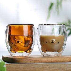 #1 иен старт # популярный внезапный подъем! симпатичный медведь. 2 слой gala лопата *280ml кухня посуда кружка кофе черный чай животное подарок интерьер AT9591