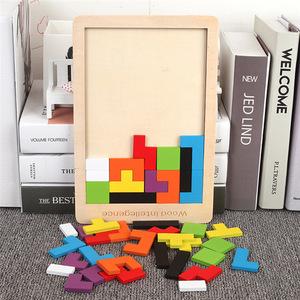 ◆最安にします◆木製パズル テトリスキューブ パズル 脳刺激 おもちゃ 木製 知育 玩具 ジグソー パズル 子供おもちゃ AT8116
