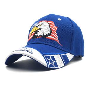 ◆1円スタート◆メンズ イーグル 野球帽 鷹 刺繍 キャップ ゴルフ 帽子 かっこいい ワイルド感たっぷり AT8896