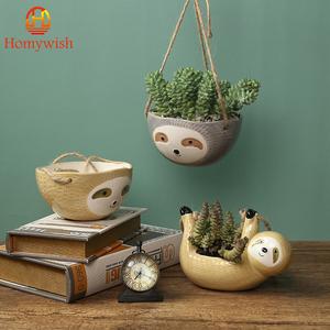 ◆最安にします◆吊り下げポット 植木鉢 プランター 鉢植え 吊るし 壁掛け 園芸用品 かわいい 動物 家庭菜園 ベランダ AT9439