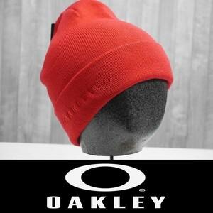 【新品:送料無料】21 OAKLEY GRADIENT ELLIPSE BEANIE - POPPY RED オークリー ビーニー ニット 帽子 スノーボード