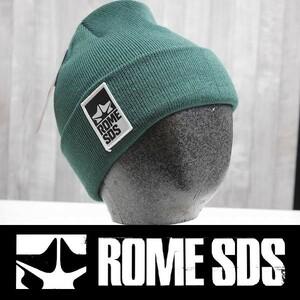 【新品:送料無料】21 ROME SDS LOGO BEANIE ビーニー GREEN 正規品 ニット帽 ローム スノーボード