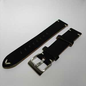 ☆ クロムエクセルレザー 20mm ブラック ホーウィン社 腕時計ベルト 交換用ストラップ 本革 イージークリック