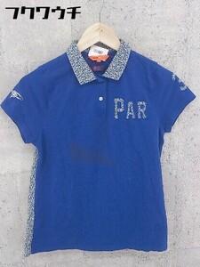 ◇ ◎ BEAMS GOLF ビームス ゴルフ 半袖 ポロシャツ サイズM ブルー レディース