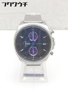 ◇ Paul Smith 動作未確認 F510-S080860 クロノグラフ クォーツ式 3針 アナログ 腕時計 ウォッチ シルバー レディース