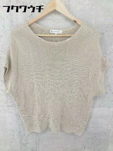 ◇ KUMIKYOKU 組曲 コットン フレンチスリーブ ニット セーター サイズ2 ベージュ系 レディース