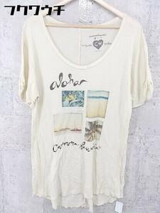 ◇ Cameron Hawaii キャメロンハワイ 半袖 Tシャツ カットソー サイズS ベージュ系 メンズ