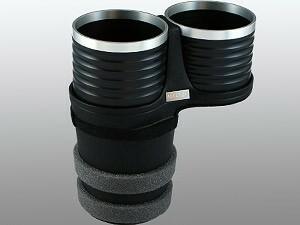 【ALCABO/アルカボ】 ドリンクホルダー ブラック/リング カップ タイプ NISSAN(日産) GT-R R35 2007年~ [AL-T110BS]