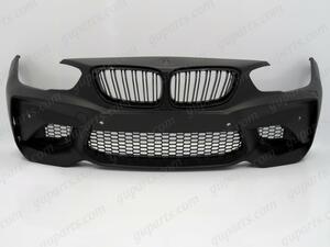 ■ BMW 1 F20 LCI → M2 タイプ フロント バンパー フェイス チェンジ ボディ キット セット キドニー グリル 51117429714 51117429715
